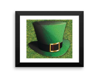 St.Patrick's Day - Green Top Hat, St. Patrick's Day - Green Top Hat Art, Green Leprechaun, St. Patrick's Day, St. Patrick's, St. Patrick, wa