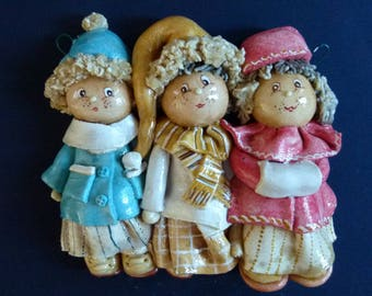 Salt dough. three girls that I think is prepared in winter