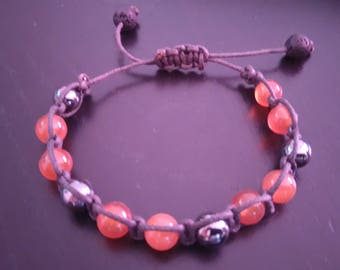 Unisex carnelian beads bracelet