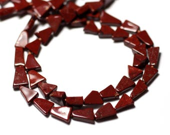 10pc - stone beads - Jasper red Triangles 5-6mm - 8741140012202