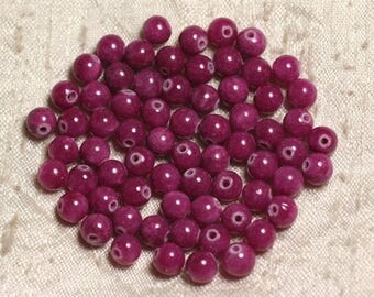 20pc - jade stone - 6mm pink Ruby 4558550013026 balls