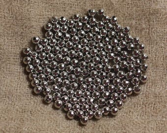 20pc - pearls silver Rhodium - balls 4mm 4558550031150