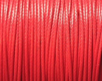 5 m - 1 wax cotton cord mm red 4558550025005