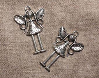 5pc - charm pendant 55mm 4558550032164 fairy Rhodium
