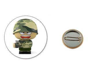 Military Grenadier - 25 mm button badge