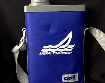 Rare Sperry Top-Sider Soft Sided Promotional Chill Cooler Canteen