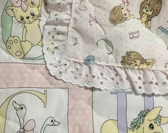 Brand New Vintage Precious Moments Baby Quilt