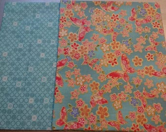 Set of 2 patchwork /quilting fabrics