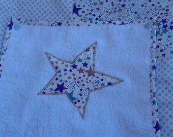 Housse de matelas à langer en coton avec 2 serviettes pressionnées