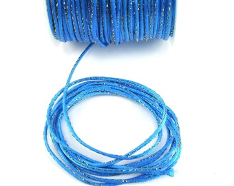 Polyester cord blue with Gold 2 X 1 mm stitching meter