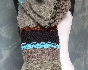 NEW LIFE, handspun wool scarf and trade