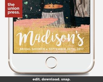 Bridal Shower Snapchat Filter Gold - Bridal Snapchat Filter - Bridal Shower Filter - Gold Snapchat Geofilter