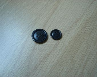 marbled black granite set of buttons