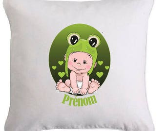 Personalized pillow BABY FROG