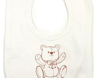 "Personalized with child's name ""Teddy"" bib"