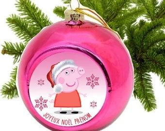 "BALL OF CHRISTMAS ""PEPPA"" PERSONALIZED"