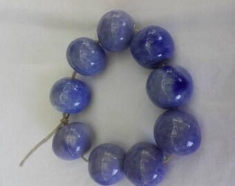 cobalt blue ceramic beads