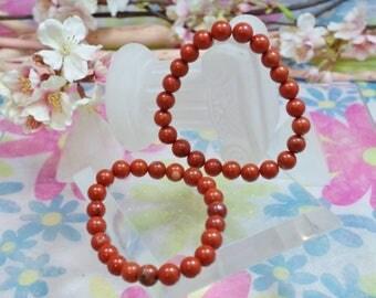 Natural red Jasper gemstone bracelet