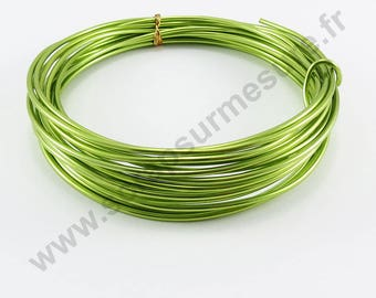 Transparent glass Ø 2 mm x 10 m - Apple green-