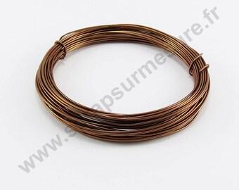 Ø 1 mm - Brown - x 2 m aluminium wire