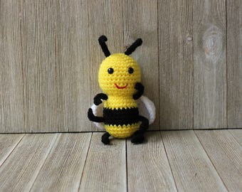 Free shipping! New Handmade Crochet Little Amigurumi / Plush Toy Bumble Bee - Ready to ship