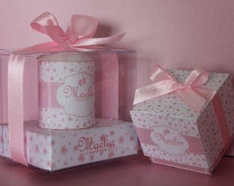 Set of 30 containers for sweets/15 candles 5 cm/4 large candles 8cm