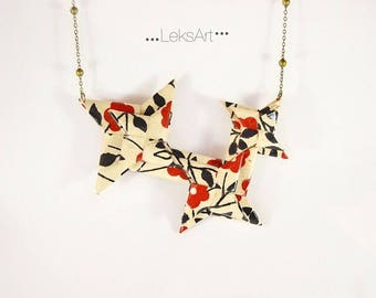 Star of Maiko スター Nepalese paper Origami necklace.