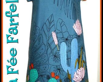 """TEXAS"" 34 to 50 organic cotton dress"