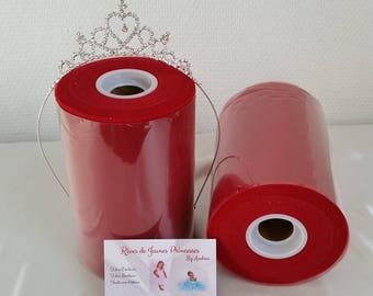 Roll of Burgundy, red and soft tulle, for making dresses and skirts, tutus, Carnival