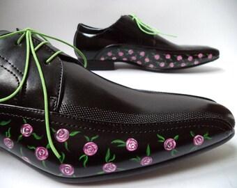 Black roses - floral motifs size 41