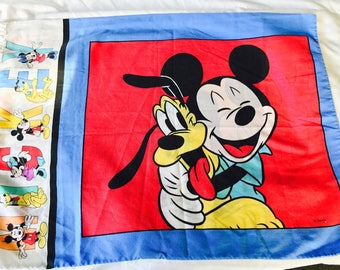Vintage Disney 1990s Mickey and Minnie Mouse pillowcase