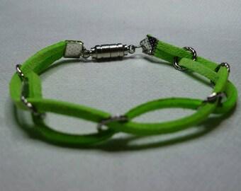 Green suede bracelet
