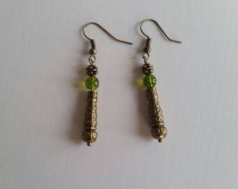 Earrings in Peridot (6 mm beads)