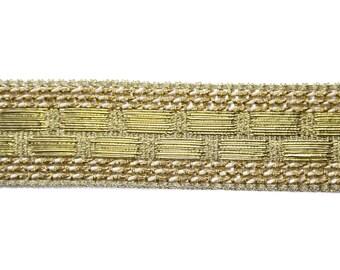 White Gold Lurex woven Ribbon 1.8 cm x 1 meter