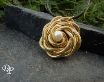 "Pendant ""Rosa"" gold plated"