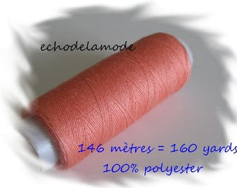 Spool of thread sewing salmon 146 m 100% polyester