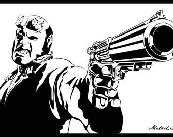 Hellboy Canvas 75x50