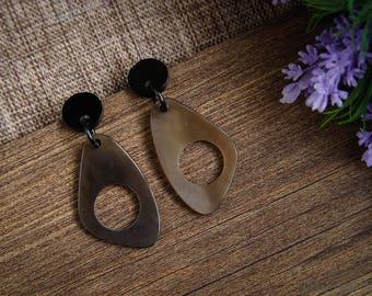 Buffalo Horn Earrings Horn Earrings Horn Jewelry Horn Accessories TA 26021