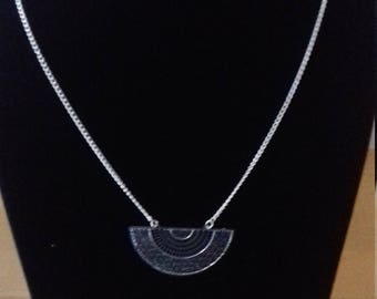 Long necklace half moon
