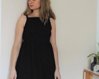 BI-material and black viscose jersey dress