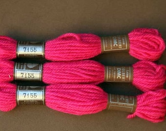 8 m skein 7155, your bright pink, 100% pure wool Colbert