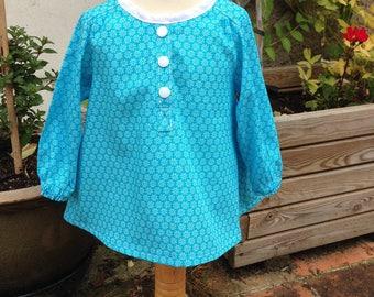 Turquoise shirt Ombline