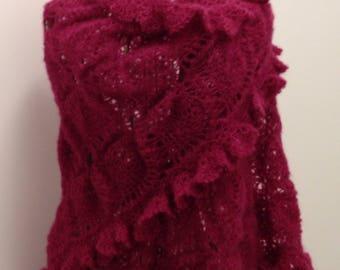 Shawl/scarf / Peony mohair/silk yarn