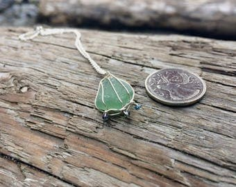Mermaid fin Seaglass Necklace