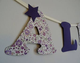 Purple name Garland