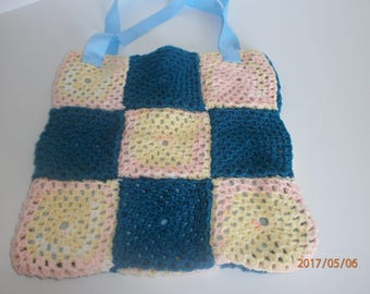 Blue and yellow retro bag