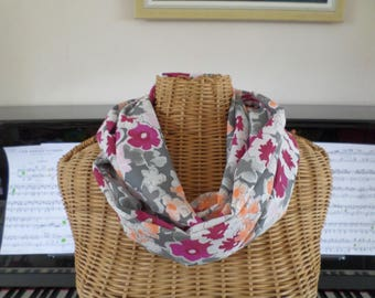 snood scarf made with high quality lightweight cotton