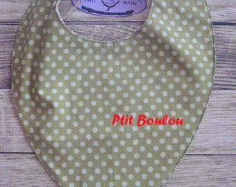 BB, green dots (B18) bandana bib