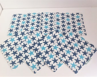 Set of 8 wipes Starfish blue for baby (boy)