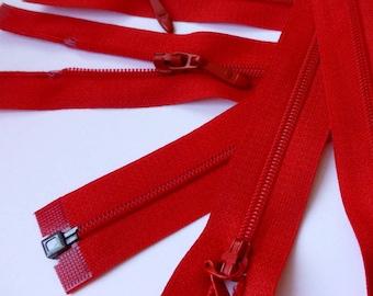 Zip - 110 cm - red zipper